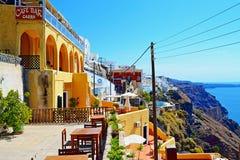 Γραφικό νησί Ελλάδα Santorini πεζουλιών άποψης Στοκ φωτογραφίες με δικαίωμα ελεύθερης χρήσης