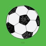 γραφικό πράσινο διάνυσμα ποδοσφαίρου υπολογιστών σφαιρών ανασκόπησης Συρμένο χέρι σκίτσο απεικόνιση αποθεμάτων