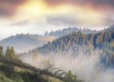 γραφικό σπίτι στην ομίχλη Στοκ Εικόνα