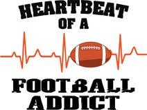 Γραφικό σχέδιο εξαρτημένων ποδοσφαίρου κτύπου της καρδιάς ελεύθερη απεικόνιση δικαιώματος