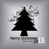 Γραφικό σχέδιο Χριστουγέννων Στοκ Εικόνες