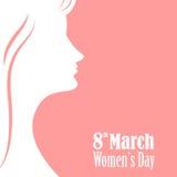 Γραφικό σχέδιο ημέρας γυναικών ` s Στοκ εικόνα με δικαίωμα ελεύθερης χρήσης