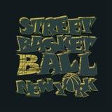 Γραφικό σχέδιο μπλουζών καλαθοσφαίρισης Νέα Υόρκη Στοκ Εικόνες