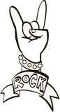 Γραφικό σχέδιο σκληρής ροκ, διανυσματική απεικόνιση Στοκ φωτογραφία με δικαίωμα ελεύθερης χρήσης