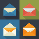 γραφικό ταχυδρομείο απεικόνισης εικονιδίων ανοικτός διανυσματική απεικόνιση