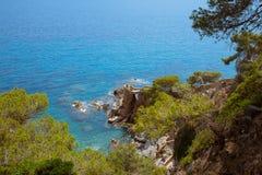 Γραφικό τοπίο θάλασσας Lloret de Mar Στοκ εικόνα με δικαίωμα ελεύθερης χρήσης