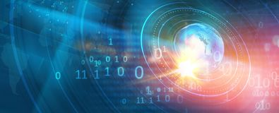 Γραφικό ψηφιακό υπόβαθρο εμβλημάτων παγκόσμιου Ιστού με την επέκταση των κύκλων διανυσματική απεικόνιση