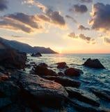 Γραφικό seascape στην ομορφιά seacost Στοκ Εικόνες