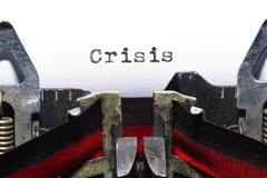 γραφομηχανή κειμένων κρίσης Στοκ εικόνες με δικαίωμα ελεύθερης χρήσης