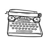 Γραφομηχανή στο ύφος doodle Στοκ εικόνα με δικαίωμα ελεύθερης χρήσης