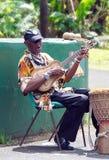 Γρενάδα - νησί Καραϊβικής - τοπικός μουσικός Στοκ Εικόνες