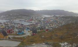 Γροιλανδία qaqortoq Νότια Γροιλανδία Φύση Πόλη Στοκ Εικόνες