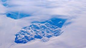 Γροιλανδία όπως βλέπει από τον ουρανό, άποψη φτερών με το στρόβιλο αεροπλάνων Στοκ φωτογραφίες με δικαίωμα ελεύθερης χρήσης