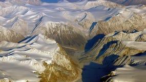 Γροιλανδία όπως βλέπει από τον ουρανό, παγετώνας Στοκ Εικόνα