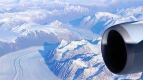 Γροιλανδία όπως βλέπει από τον ουρανό, παγετώνας Στοκ Φωτογραφίες