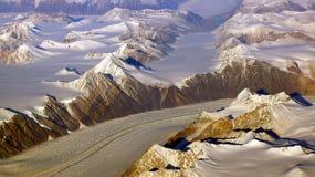 Γροιλανδία όπως βλέπει από τον ουρανό, παγετώνας Στοκ φωτογραφία με δικαίωμα ελεύθερης χρήσης