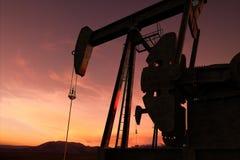 Γρύλος αντλιών σε μια πετρελαιοφόρο περιοχή Στοκ Εικόνα