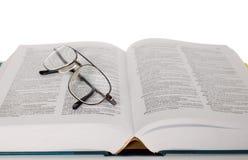 γυαλί βιβλίων Στοκ εικόνες με δικαίωμα ελεύθερης χρήσης