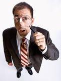 γυαλί επιχειρηματιών πο&upsilo στοκ εικόνα με δικαίωμα ελεύθερης χρήσης