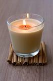 γυαλί κανέλας κεριών Στοκ Εικόνες