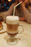 γυαλί καφέ καφέδων latte Στοκ εικόνες με δικαίωμα ελεύθερης χρήσης