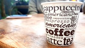 Γυαλί καφέ Στοκ φωτογραφία με δικαίωμα ελεύθερης χρήσης
