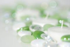 γυαλί κεριών χαντρών Στοκ φωτογραφία με δικαίωμα ελεύθερης χρήσης