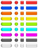 γυαλί κουμπιών λαμπρό Στοκ εικόνα με δικαίωμα ελεύθερης χρήσης