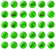 γυαλί κουμπιών πράσινο Στοκ εικόνες με δικαίωμα ελεύθερης χρήσης