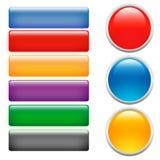 γυαλί κουμπιών Στοκ εικόνες με δικαίωμα ελεύθερης χρήσης