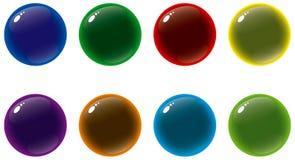 γυαλί κουμπιών Στοκ φωτογραφίες με δικαίωμα ελεύθερης χρήσης