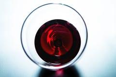 Γυαλί κόκκινου κρασιού - τοπ άποψη Στοκ εικόνα με δικαίωμα ελεύθερης χρήσης