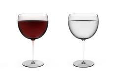 Γυαλί κόκκινου κρασιού Στοκ Εικόνες
