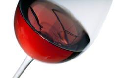 Γυαλί κόκκινου κρασιού Στοκ εικόνα με δικαίωμα ελεύθερης χρήσης