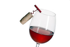 Γυαλί κόκκινου κρασιού Στοκ φωτογραφία με δικαίωμα ελεύθερης χρήσης