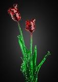 γυαλί λουλουδιών Στοκ φωτογραφίες με δικαίωμα ελεύθερης χρήσης