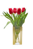γυαλί λουλουδιών στοκ φωτογραφία