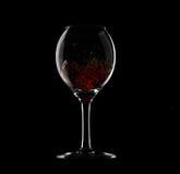 γυαλί μέσα στο κρασί παφλ&al Στοκ Εικόνα