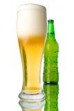 γυαλί μπουκαλιών μπύρας στοκ εικόνες