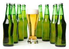 γυαλί μπουκαλιών μπύρας στοκ φωτογραφίες