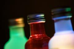 γυαλί μπουκαλιών τρία Στοκ εικόνα με δικαίωμα ελεύθερης χρήσης