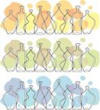 γυαλί μπουκαλιών frieze Στοκ φωτογραφία με δικαίωμα ελεύθερης χρήσης