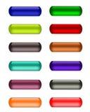 γυαλί πηκτωμάτων κουμπιών Στοκ Εικόνες
