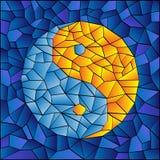 γυαλί που λεκιάζουν yang yin Στοκ εικόνα με δικαίωμα ελεύθερης χρήσης