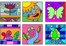 γυαλί τέχνης doodle Στοκ φωτογραφία με δικαίωμα ελεύθερης χρήσης