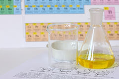 γυαλί χημείας στοκ φωτογραφίες