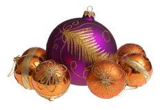 γυαλί Χριστουγέννων σφα&iot Στοκ φωτογραφία με δικαίωμα ελεύθερης χρήσης