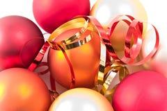 γυαλί Χριστουγέννων σφα&iot Στοκ εικόνα με δικαίωμα ελεύθερης χρήσης