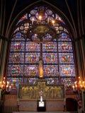 γυαλί notre Παρίσι κυρίας de Γα&lamb Στοκ φωτογραφίες με δικαίωμα ελεύθερης χρήσης