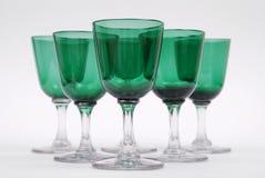 γυαλιά έξι κρασί στοκ εικόνα